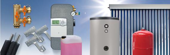 Solarthermiepaket - bis 25qm (7-8 Personen - bis 250qm Wohnfläche)