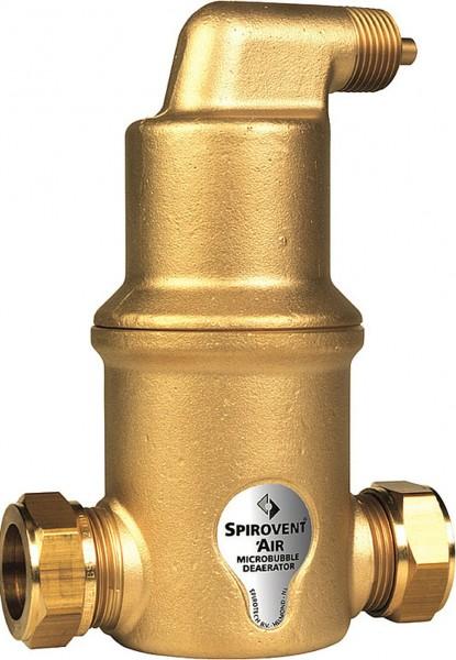 SpiroVent Mikroluftblasenabscheider Luft 22mm Klemmring - AA022