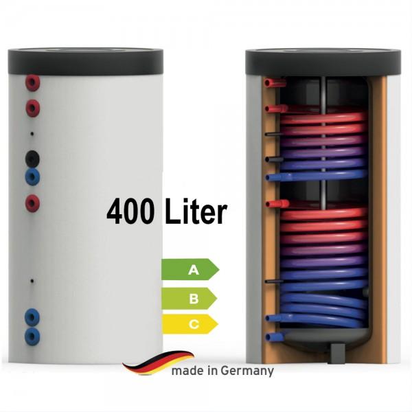 Trinkwasser-Speicher 2x Wärmetauschern 400 Liter EEK A / B oder C