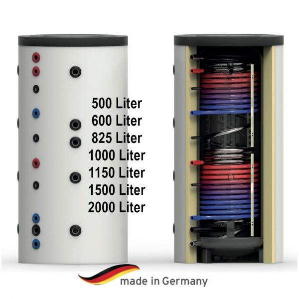 Hygiene-Kombi-Speicher mit zwei Wärmetauscher 500 - 2000 Liter Warmwasserspeicher