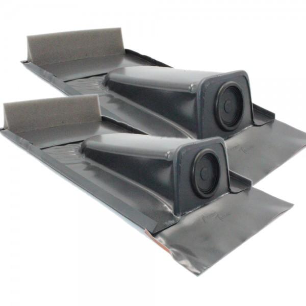 2er-Set Dachdurchführung passend für Tondachziegel, Schwarzgrau pulverbeschichtet