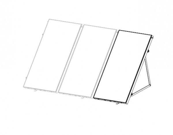 Flachdachmontageset- Erweiterung für 1 x Sunex 2.5 Flachkollektor