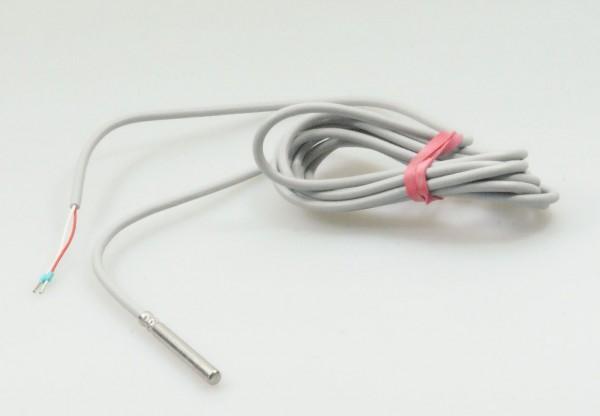 PT1000 Temperaturfühler - Speicherfühler / Kollektorfühler Solar Sensor - 2500mm - grau