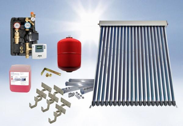 Solarthermie Basic Paket - Eurotherm-Solar Vakuumröhrenkollektor - 4,55m²