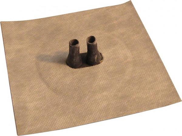 Luftdichtungsmanschette mit Vlies-Butyl-Klebekragen Doppelleitung 2x 8-12mm