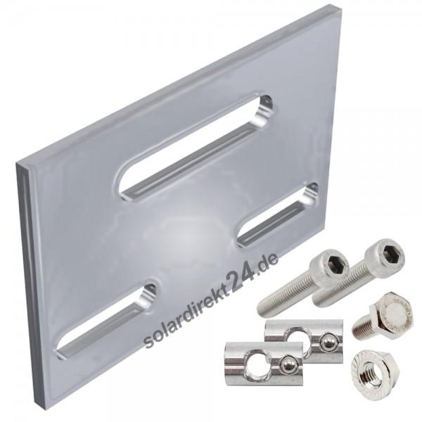 Kreuzverbandplatte für Aluprofil inkl. Montagematerial Verbinder Kreuzverbinder
