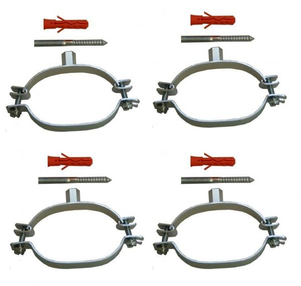 Ovalschellen für DN20 Edelstahlwellrohr - 4 Stück
