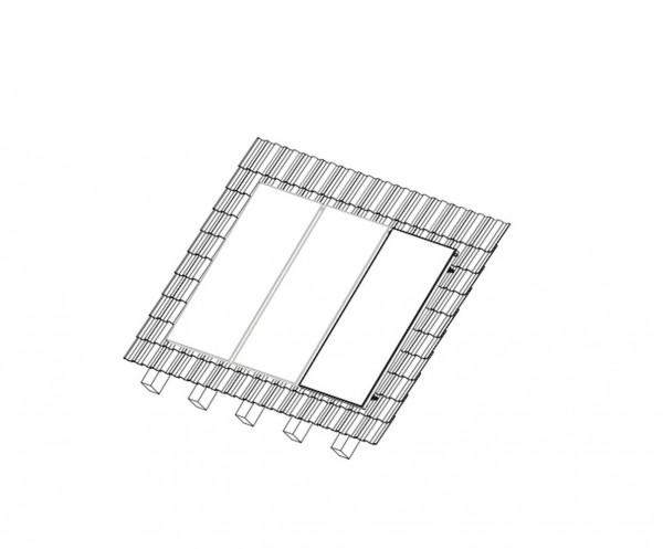 Aufdach Montageset Erweiterung für 1 x Sunex 2.5 Flachkollektor