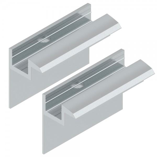 2er-Set Endklemme für 35mm Module silber Solar Photovoltaik Aluminium