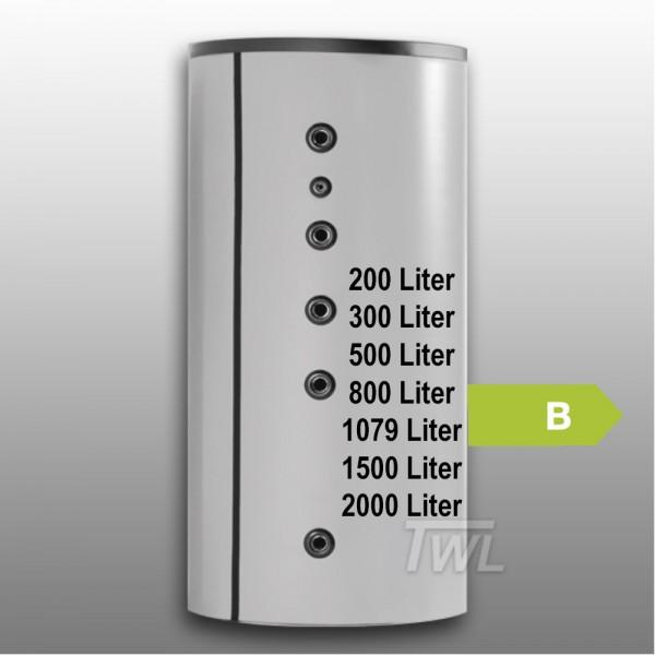 Pufferspeicher 2x Glattrohr- Wärmetauscher EEK-B Wärmespeicher