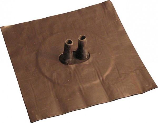 Luftdichtungsmanschette mit Alu-Butyl-Klebekragen Doppelleitung 2x 8-12mm