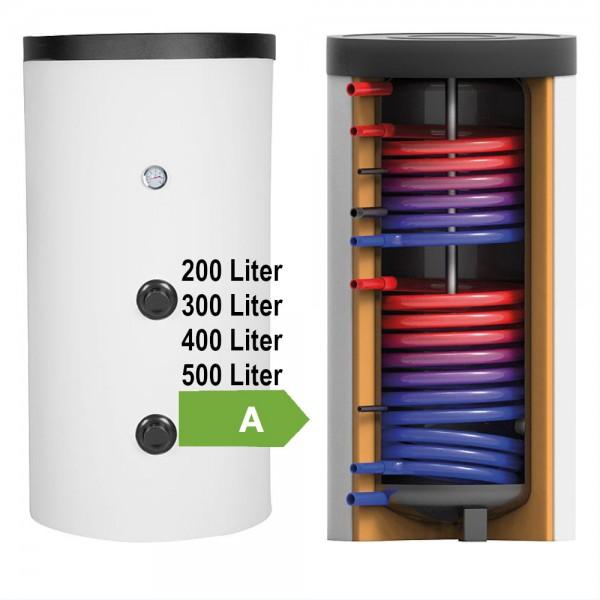 Evenes Solarspeicher 2x Wärmetauscher 200 - 500 Liter
