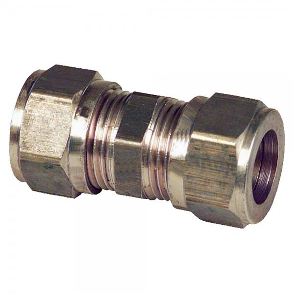 Klemmringverschraubung 10 bis 28 mm gerade Verschraubung Messing Klemmring