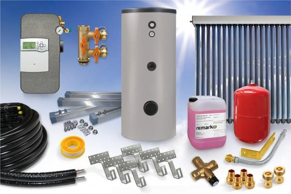 Vakuumröhrenkollektor - Brauchwasser Paket 4,58m² - 400 Liter Speicher (BW-5.400)