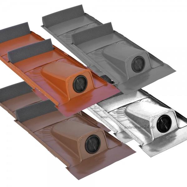 2er-Set Dachdurchführung für Tondachziegel pulverbeschichtet Solarleitung Solar
