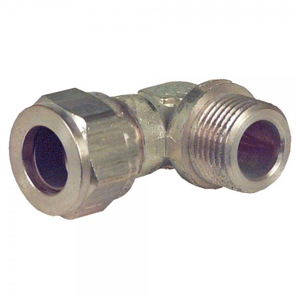 Klemmringverschraubung Winkel 90° IG / AG 10 bis 28 mm Messing Klemmring