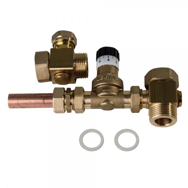 """Überstromventil 1"""" AG mit Verteilerrohr 0,03 bis 0,5 bar Überdruck Diffenrenzdruck"""