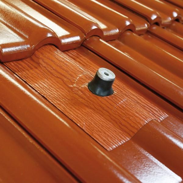 AufdachDICHT Manschette 8-90 mm ROT Abdichtung Dachdurchführung Solar