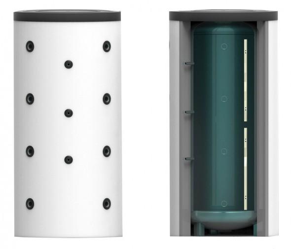 Puffer- Schichtenspeicher ohne Wärmetauscher 600 Liter inkl. 120 mm Isolierung – 65cm (PSS-WT0-600-6