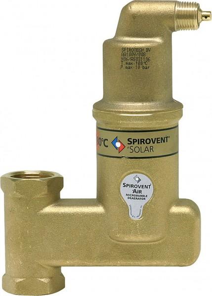 SpiroVent Mikroluftblasenabscheider AutoClose SOLAR Vertikal 22mm Klemmring - AA022VFBA08
