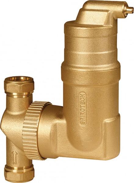 SpiroVent Mikroluftblasenabscheider RV2 28mm Klemmring - UA028W