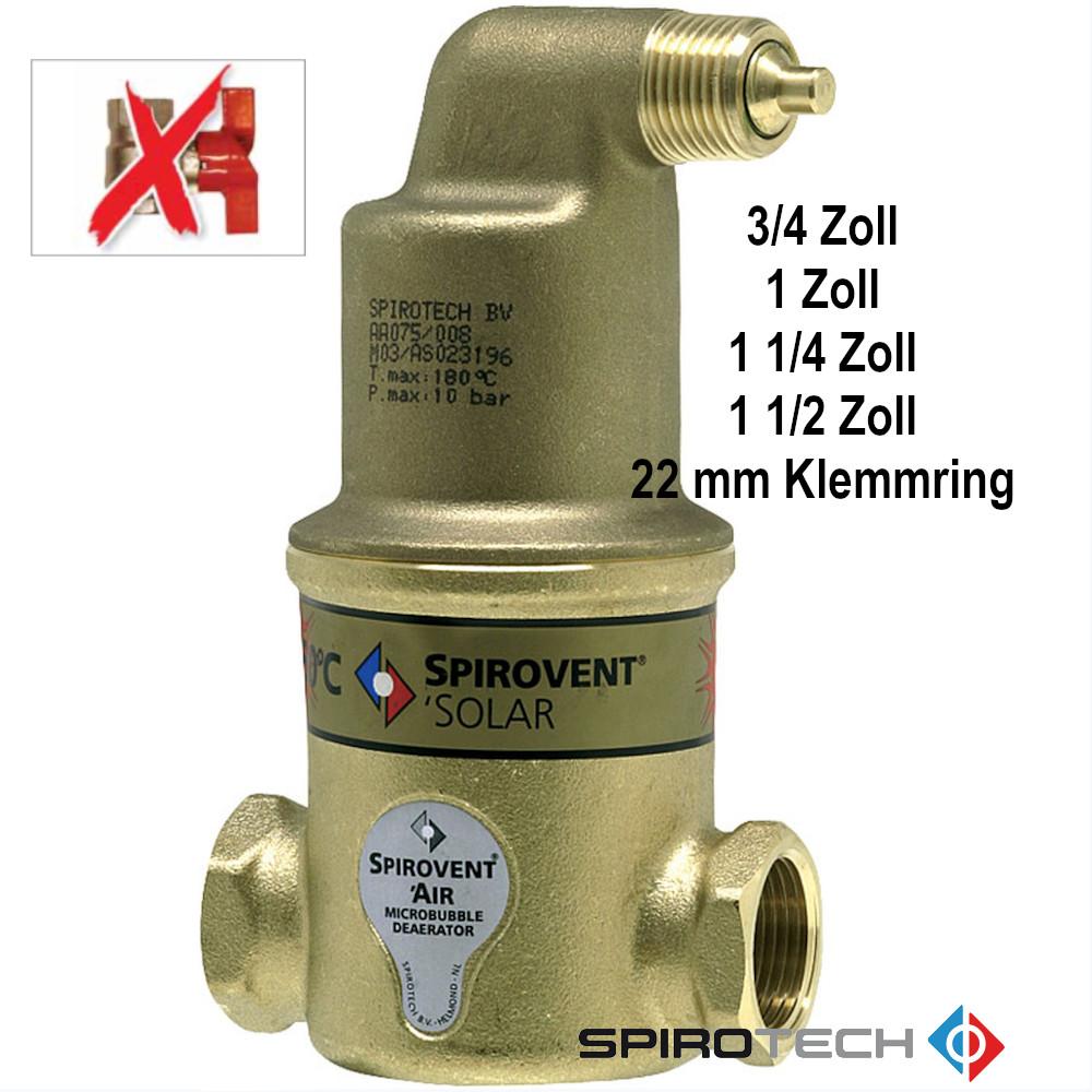 "SpiroVent IG 3//4/""  NEU Mikroluftblasenabscheider AA075"