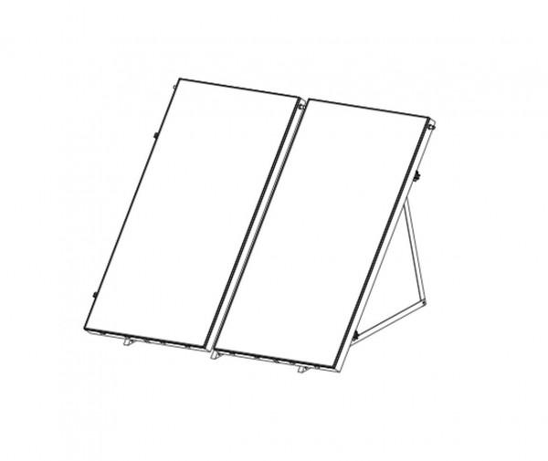 Flachdachmontageset für 2 x Sunex 2.85 Flachkollektoren