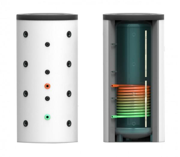 Puffer- Schichtenspeicher mit einem Wärmetauscher 600 Liter inkl. 120 mm Isolierung – 65cm (PSS-WT1-