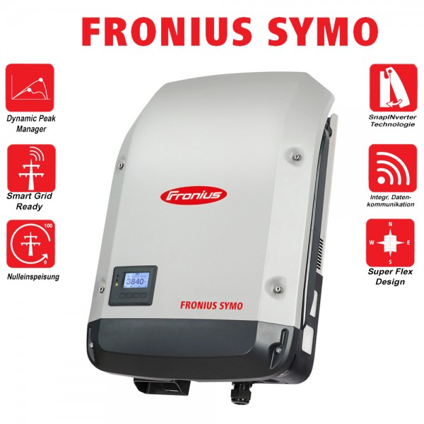 Fronius Symo 17.5-3-M dreiphasiger Wechselrichter Solar WLAN LAN Webserver