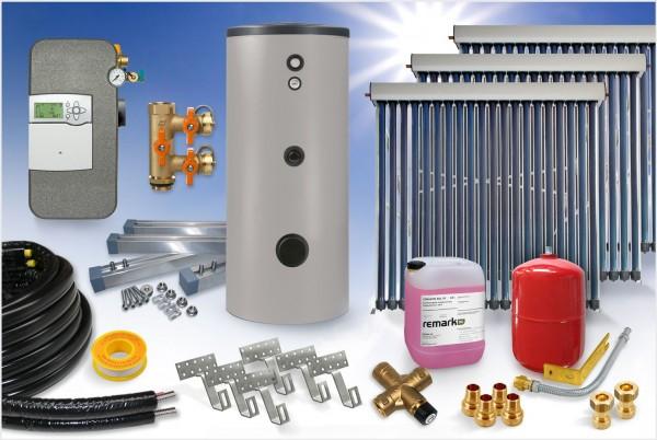 Vakuumröhrenkollektor - Brauchwasser & Heizung Paket 13,74m² - 1000 Liter Speicher (BWH-14.1000)