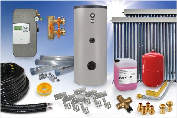 Vakuumröhrenkollektor - Brauchwasser & Heizung Paket 10,24m² CPC - 825 Liter Speicher (BWH-11.825)
