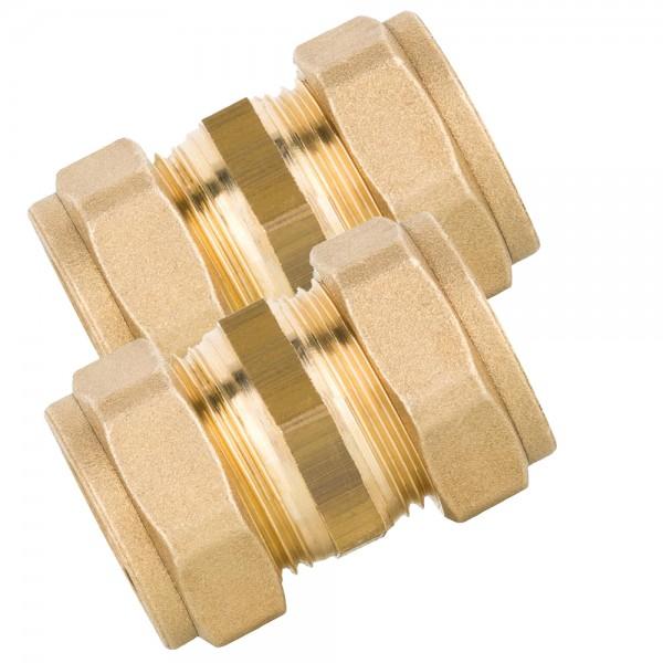 2er-Set Verbindungen für Kollektoren 22x22mm Klemmringverschraubung Verbindungsset