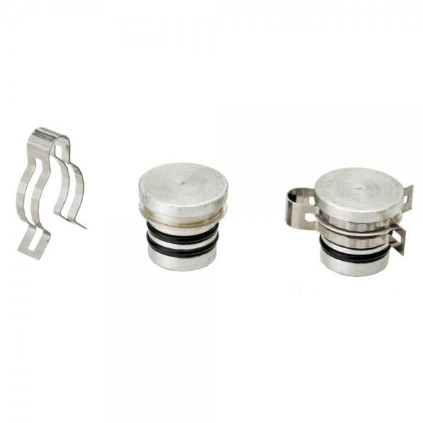 STI Verschlussdeckel-Set Aluminium - NUR für STI Flachkollektoren geeignet