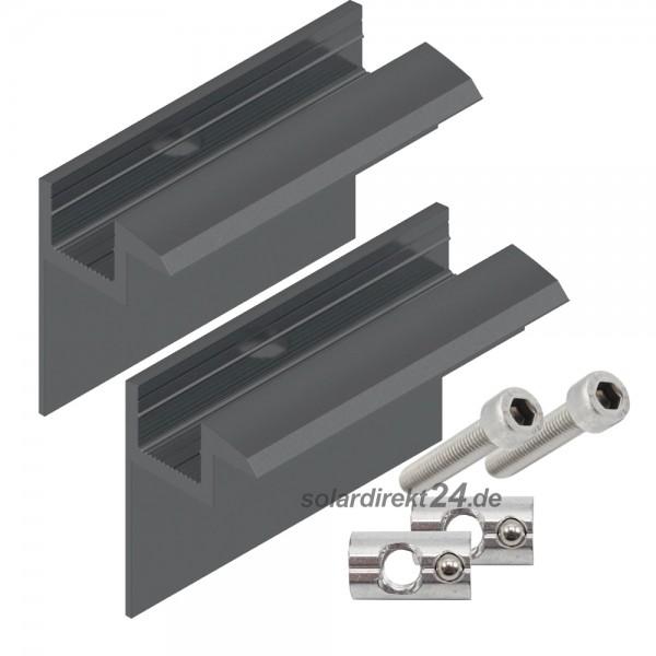 2er-Set Endklemme für 40 mm Module schwarz inkl. Schrauben Solar Photovoltaik PV