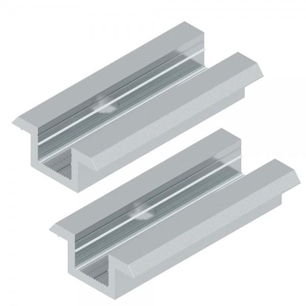 2er-Set Universal Mittelklemme für 30-50 mm Module silber Solar Photovoltaik