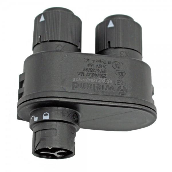 PV Verteiler RST16I3V 3-polig Kodierung schwarz Verteilerblock Verschaltung