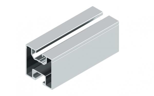 4 stk. 0,80m Aluminium Trägerprofil / Montageprofil 40x40mm - Restposten