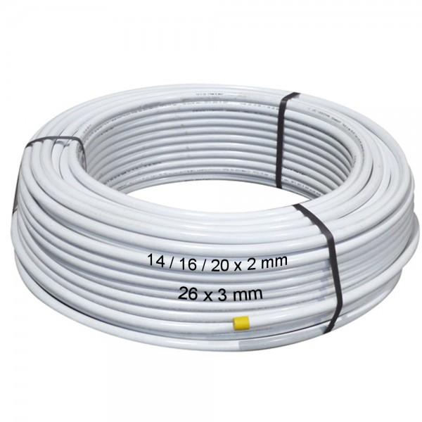 Metallverbundrohr 14/16/20 x 2mm / 26 x 3mm PE-RT / AL Aluverbundrohr Fußboden Heizung Rohr
