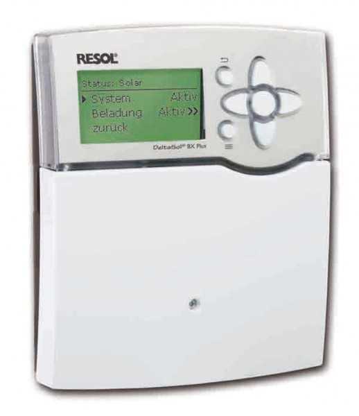 Solarsteuerung Resol DeltaSol BX Plus (inkl. 5 PT1000 Fühlern - 2 x FKP6 - 3 x FRP6) - Komplettpaket