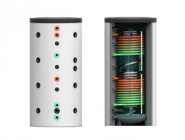 Hygiene- Kombi- Speicher mit zwei Wärmetauschern 1150 Liter inkl. 120 mm Isolierung (HKS-WT2-1150)
