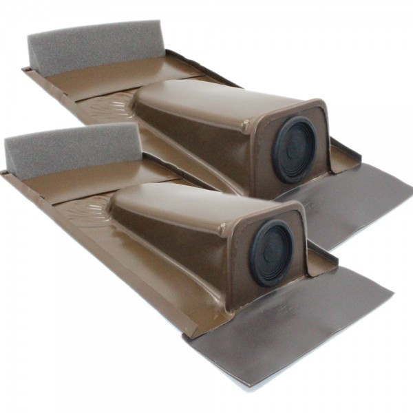 2er-Set Dachdurchführung für Tondachziegel, Braun pulverbeschichtet