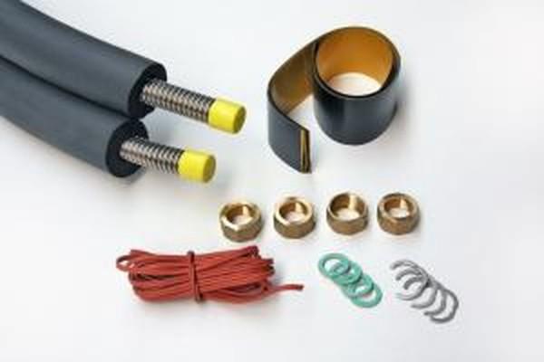 DN 20 - Basic Solarleitung Edelstahlwellrohr 13mm Isolierung - 10m