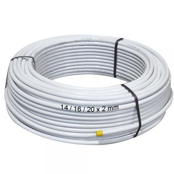 Metallverbundrohr 14/16/20 x 2mm PE-RT / AL Aluverbundrohr Fußboden Heizung Rohr