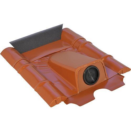Dachdurchführung für Betonziegel, Schwarzgrau pulverbeschichtet, verzinkt (2 Stück)