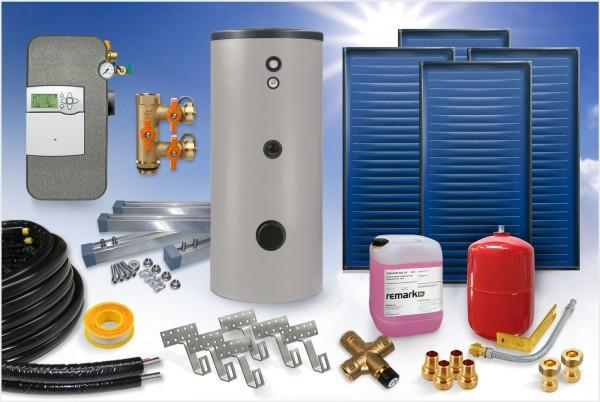 Flachkollektor - Brauchwasser & Heizung Paket 11,40m² - 825 Liter Speicher (BWH-12.825)