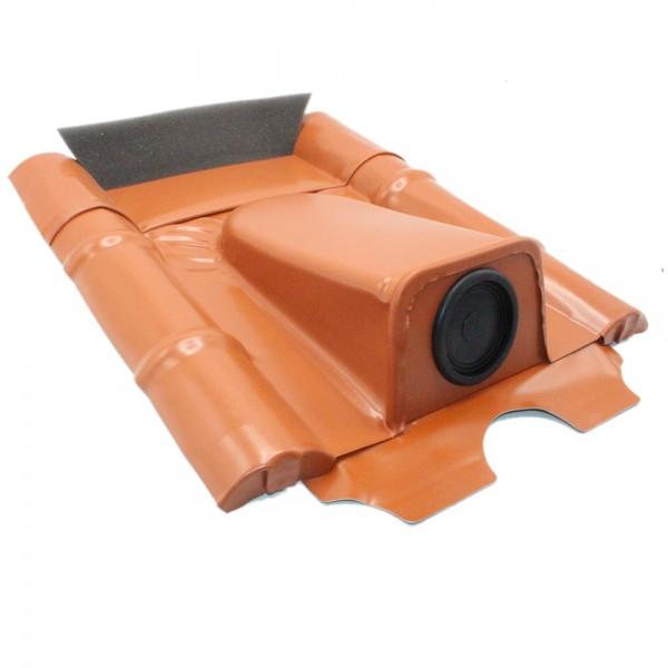 Dachdurchführung für Betonziegel, Rot pulverbeschichtet, verzinkt (2 Stück)